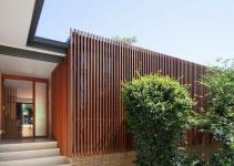 Slated Timber Screen Light Filled Interior Transform