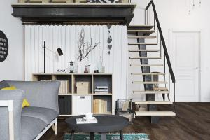 Small Modern Loft Prague Scandinavian Style Decor