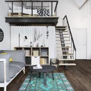 Small Modern Loft Prague Scandinavian Style Decor