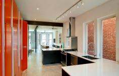 Small Row House Renovation Idea Bold Colors