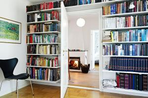 Small Symmetrical Reading Room Ideas Interior Window