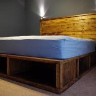 Solid Wood Twin Platform Bed Storage Splendid