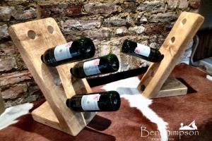 Solid Wooden Rustic Chunky Wine Rack Handmade Shabby Chic