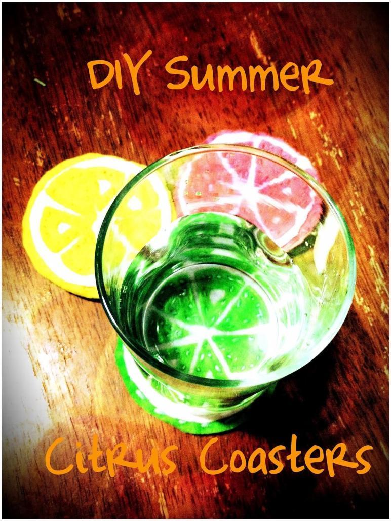 Something Breezy Diy Summer Citrus Coasters
