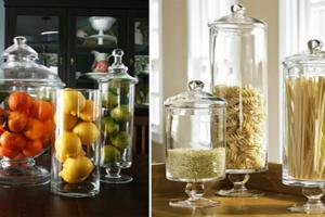 Spring Mantel Decor Glass Apothecary Jars Kitchen Ideas
