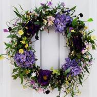 Spring Medley Silk Flower Door Wreath Inch