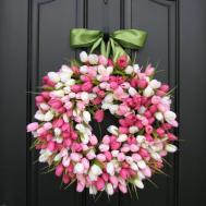 Spring Tulip Wreath Front Door Wreaths