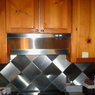Stainless Steel Kitchen Backsplash Tiles