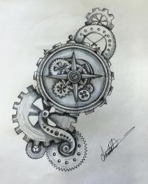 Steampunk Compass Shaza719 Deviantart