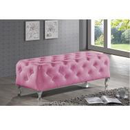 Stella Crystal Tufted Pink Modern Bench Furniture Seat