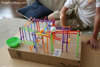 Stem Challenge Kids Build Straw Coaster Frugal