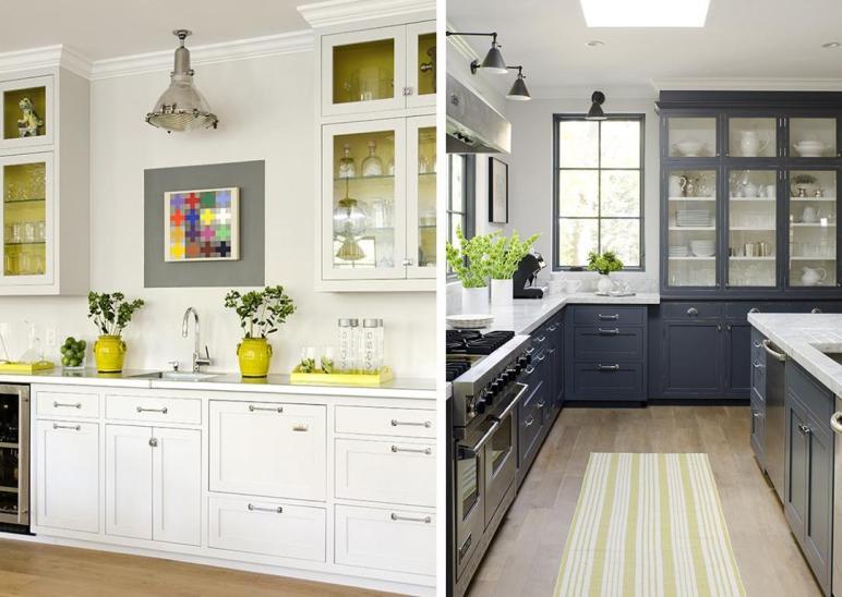 Stephmodo Gorgeous Gray Kitchen Yellow Accents