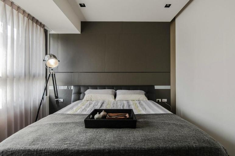 Stone Wood Make Dark Masculine Interior