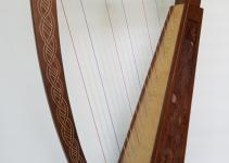 Strings Harp Vine Design Celtic Style