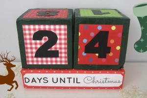 Stylenovice Christmas Diy Xmas Countdown Cubes