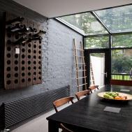 Stylish Addition Gorgeous Kitchen Brick Wall