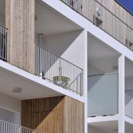 Stylish Balconies Become Integral Parts Their Building