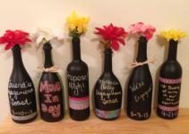 Stylish Diy Black Wine Bottle Vase Centerpieces