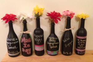 Stylish Diy Black Wine Bottle Vase Centerpieces