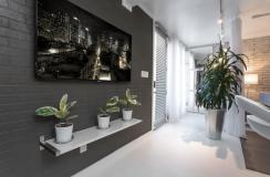Stylish Exposed Brick Wall Lofts Modern Home Narrow