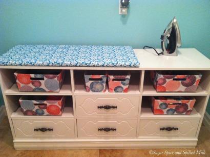 Sugar Spice Spilled Milk Dresser Repurpose