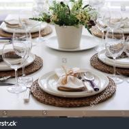 Summer Table Setting Lunch Stock Shutterstock