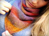 Sunset Scarf Knitting Pattern Favecrafts