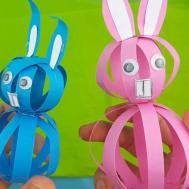 Super Easy Easter Paper Bunny Craft Kids Step