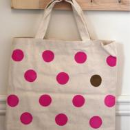 Suz Viv Copy Cat Diy Polka Dot Bag