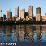 Sydney City Skyline Dawn New South
