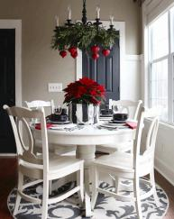 Table Decoration Christmas Round Back Dining Chairs