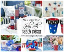 Table Diy Decorating July 4th Celebrating Holidays