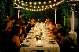 Tables Summer Backyard Dinner Party Decorating Ideas