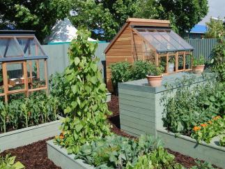 Terrace Garden Minimalist Shed Design Applying Wooden