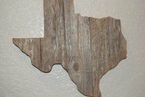 Texas State Reclaimed Wooden Cutout Decor