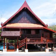 Thai Traditional House Stilts Trat Thailand