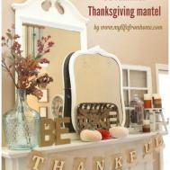Thankful Thanksgiving Mantel Life Home