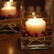 Thanksgiving Christmas Cranberry Centerpieces