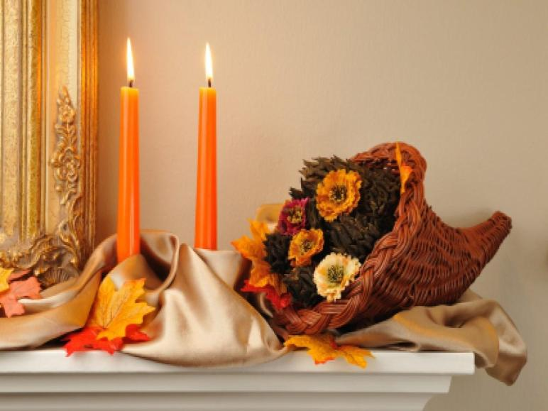 Thanksgiving Fireplace Decorations Shabby Chic