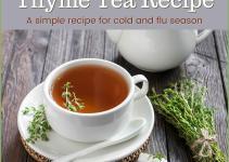 Thyme Tea Recipe Great Decongestant Cold Flu