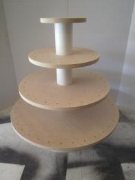 Tier Round Square Unfinished Convertible Cupcake