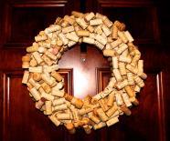 Top Wine Cork Wreath Christmas