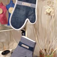 Topfhandschuhe Upcycling Jeans Kochhosen Raike Design