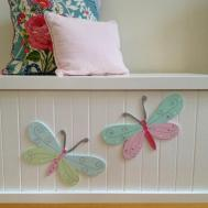 Toy Box Butterfly Girls Chest