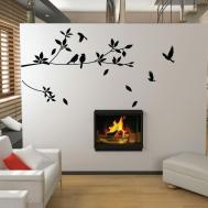 Tree Bird Wall Stickers Vinyl Art Decals