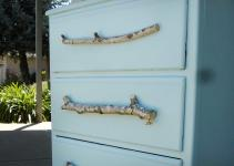 Tree Branches Turned Into Diy Drawer Pulls Blue