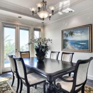 Tropical Dining Room Crown Molding Lara Langford