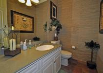 Tropical Powder Room Flush Undermount Sink