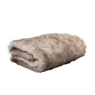 Tundra Wolf Faux Fur Throw Throws Home Cor Nood