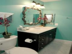Turquoise Bathroom Black Red